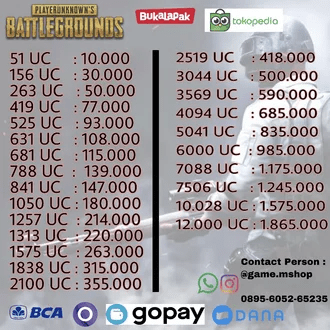 Battle ground nick name Rp.10.000