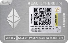 Ballet Real Ethereum (ETH) - Physical Cryptocurrency Wallet $35.00