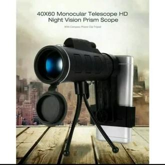 2. Teleskop Monocular tripod 40x60 Rp 70.000