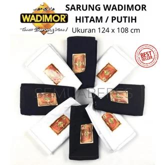Sarung Tenun Wadimor Hitam atau Putih Polos Rp51.900