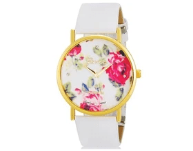 Watch with Flower Pattern