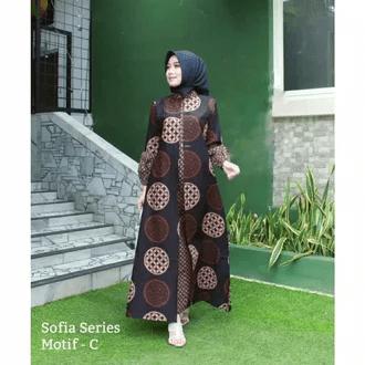 Gamis batik CIKITA GENES saku samping Rp.186000